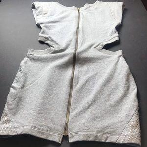 Bebe Dresses - Grey Bebe cut out body con dress